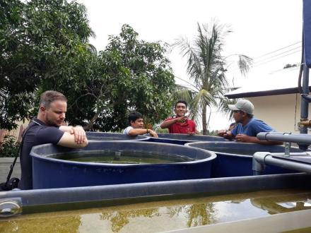 LSM UnitingWolrd Tinjau Lokasi Water Treatment di Banjar Dinas Tangkid
