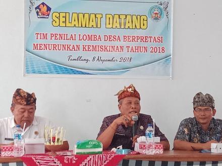 Tamblang Wakili Kecamatan Kubutambahan dalam Lomba Desa Berprestasi Menurunkan Kemiskinan Tahun 2018