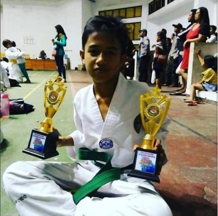 Putra Desa Tamblang Juara II dalam Porjar Cabang Taekwondo