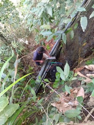 Perbaikan Pipa UPS-AB Pasca di Guyur Hujan Deras