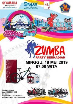 Lomba Senam Zumba di Buleleng Expo Tahun 2019