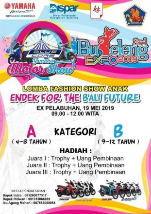 Lomba Fashion Show Anak Endek For The Bali Future di Buleleng Expo Tahun 2019