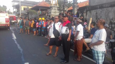 PAM Kebakaran Bank BRI Tamblang