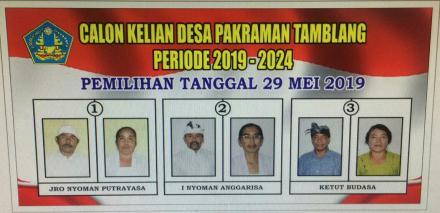 Pemilihan Klian Desa Pakraman Tamblang Periode 2019-2014